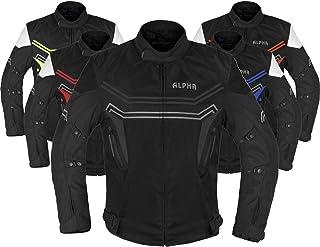ALPHA CYCLE GEAR MOTORCYCLE ALL SEASON JACKET (BLACK, XXXX-LARGE)