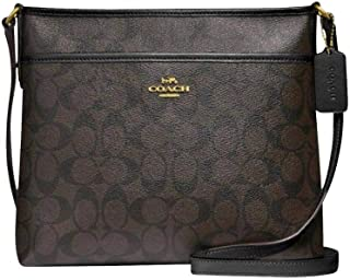 COACH Signature Jacquard Stripe Zip File Bag