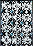 BalajeesUSA 5'x7' Indoor Outdoor rug Plastic Straw mat RV Mat Patio Camping Reversible rug Wholesale Price 20287
