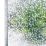 LMKJ Película para Ventana Etiqueta autoadhesiva para Ventana Dormitorio de Vidrio de Color 3D con Etiqueta estática decoración de Piedra privacidad película Decorativa estática A119 50x200cm