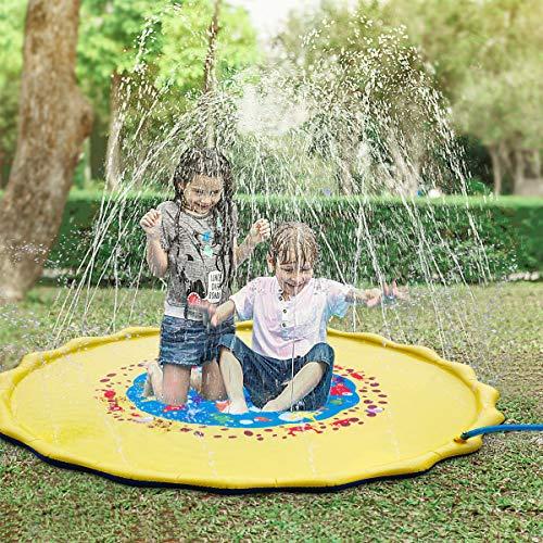 Yousmart Sprinkler for Kids, 68' Splash Pad Wading Pool for Learning  Childrens Sprinkler Pool,Inflatable Water Toys Perfect Inflatable Outdoor Sprinkler pad