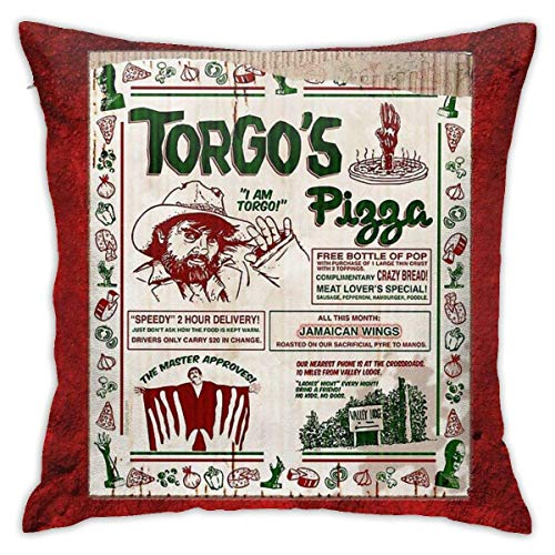 N/A Torgos Pizza Cushion Throw Pillow Cover Decorative Pillow Case for Sofa Bedroom 18 X 18 inch