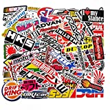 100 PCS Japanese Domestic Market JDM Waterproof Stickers Letter Trend Automobile Logo Car Laptop Helmet Luggage Vintage Skateboard Wall Decor Gift for Kids (JDM)