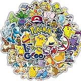 TTBH Pegatinas de Pokemoner, Pegatinas de recompensa de Dibujos Animados de Anime para niños, portátil, Equipaje, monopatín, teléfono, Pegatina Divertida, álbum de Recortes DIY, 50 Uds.