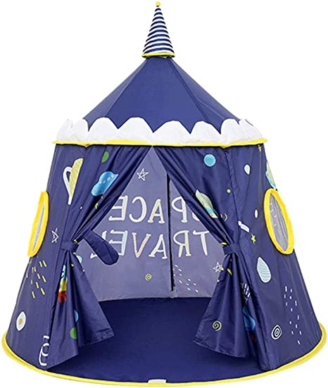 Amazon Com Children S Tent Play Tents Children S Room Indoor And Outdoor Baby Folding Tent House Kids Play House Big House Play House Fashion Game Color Blue Home Kitchen