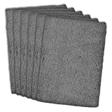 DII Microfiber Multi-Purpose Cleaning Cloths Perfect for Kitchens, Dishes, Car, Dusting, Drying Rags, Set of 6 - Gray