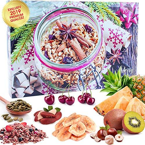 C&T Veganer Fit & Gourmet - Calendario dell'Avvento 2019-24 Vegani, deliziosi Snack dell'Avvento 24 con Semi di chia, mandorle, anacardi, Bacche di Goji