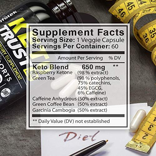 4 Pack Keto Diet Pills Weight Loss Supplement Fat Burner Advanced Extract Formula - Garcinia Cambogia - Raspberry Ketones, Green Coffee Bean, Green Tea All Natural, Ketogenic Diet for Women and Men 3