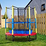 MaxxGarden Trampoline Enfant Ø 140 cm avec Filet de Protection Trampoline Fitness Rond pour Intérieur et Extérieur Charge Max 50 KG
