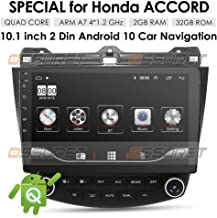 OSSURET 10.1 Inch 32GB Android 10 Car Audio GPS Navigation for Honda Accord 7 2003-2007..