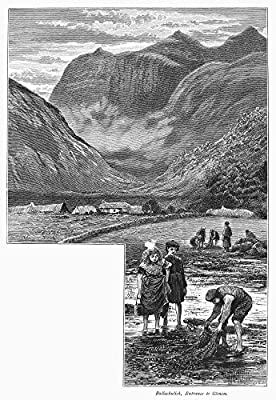 Wall Decor Prints: Scotland Glencoe Nview Of The Entrance To The Valley Of Glencoe In The Scottish Highlands From The Village Of Ballachulish On Loch Leven Wood Engraving C1875 By Edward Whymper After Townley Green Model Number: GRC0094888LARGE Packa...