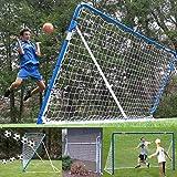 EZGoal Folding 12' x 6' Professional Soccer Practice Rebounder, Kickback Trainer & Soccer Goal Net