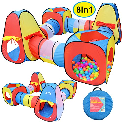 JOYIN 8 in 1 Pop-up Play Tent Tunnel...