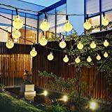 Guirlande lumineuse solaire extérieure,50LED étanche Fairy Lights,8 Modes Lumières guirlande guinguette,Pour intérieur / extérieur, jardin,terrasse,...