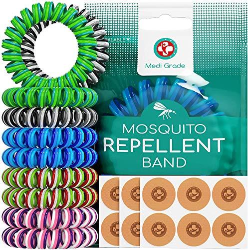 Bracelets Anti Moustique [10 Pièces] et Patchs [120 Unités] – Bracelet...