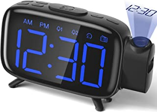 Projection Alarm Clock Radio Alarm Clock Digital Clock with Power Adapter Alarm Clocks..