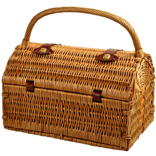 Picnic at Ascot Sussex Willow Picnic Basket with Service for 2 - London Plaid