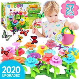Innorock Flower Garden Building Toy for Kids – STEM Toys Pretend Play Gardening Activity Playset for Girls and Boys – Flowers Stacking Learning Games Gift for Toddlers Age 3 4 5 6 7