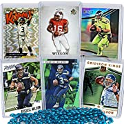 Delight your Russell Wilson fan with this set of 6 Russell Wilson trading cards!! The perfect Seattle Seahawks Gift! The perfect Russell Wilson Birthday Present! This set is the BEST RUSSELL WILSON FOOTBALL CARD PRODUCT ON AMAZON! This set includes a...