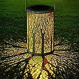 LED Lanterne Solaire, GolWof Lampe Suspendue Extérieure Lumière Accrochant...