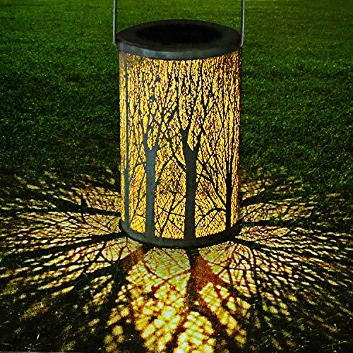 LED Lanterna Solare, GolWof Lampada da Giardino Luci Solari Sospensione Disegno marocchino IP44...