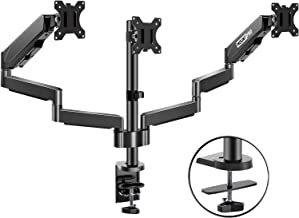 MOUNTPRO Triple Monitor Desk Mount – Articulating Gas Spring Monitor Arm, Removable..