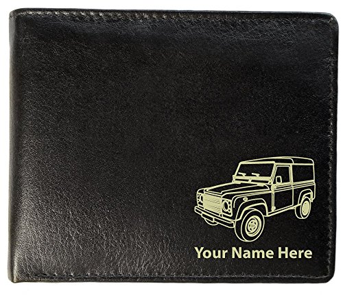 Land Rover Design, Personalised Mens Leather Wallet (Toscana Style)