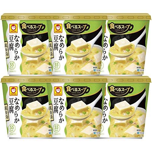 マルちゃん なめらか豆腐を食べるスープ 鶏白湯 12.3g×6個
