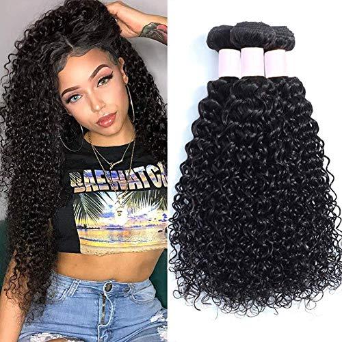 Brazilian Virgin Curly Hair 3 Bundles (14 16 18 inches) 8A 100% Unprocessed Brazilian Virgin Hair Weft Extensions Good Quality Curly Weave Human Hair Bundles