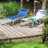 Park Alley PA-5210 Sonnenliege mit Kissen Gartenliege klappbar mit Rahmen aus Aluminium - 6
