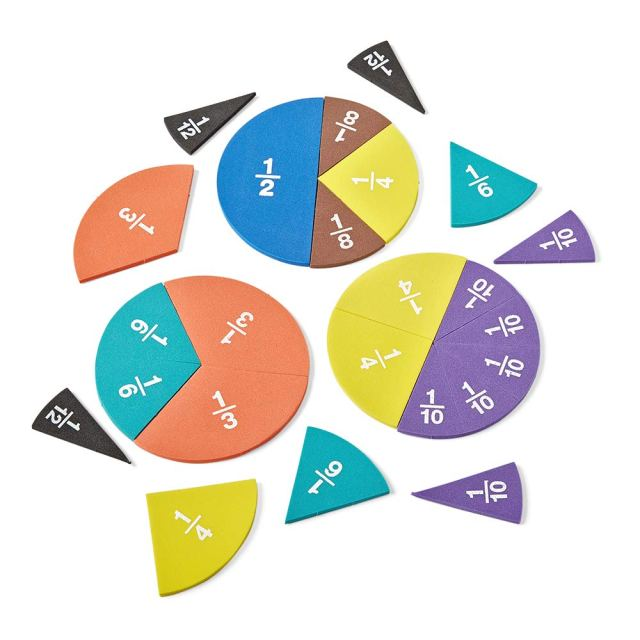 hand28mind Foam Rainbow Fraction Circles, Montessori Math Materials for Kids  to Learn Fraction Equivalence Math Manipulatives 28th Grade Fraction,