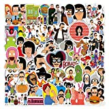 Animación clásica Happy Burger Shop Graffiti Sticker Equipaje Impermeable Laptop Scooter Water Cup Sticker 50PCS