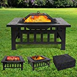 FEMOR Foyer Multi-fonction 3 in 1 Barbecue Récipient Glace Brasero...