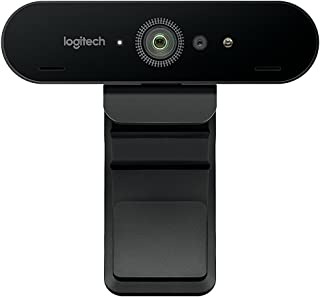 Logitech BRIO Ultra HD Webcam for Video Conferencing, Recording, and Streaming – Black