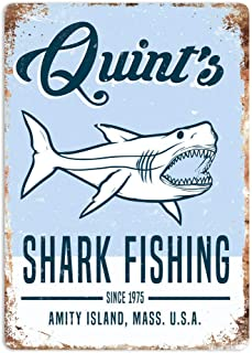 NNHG Tin Sign 8×12 inches Art Jaws 80s Movie Poster Summer Decor Novelty Art Sign