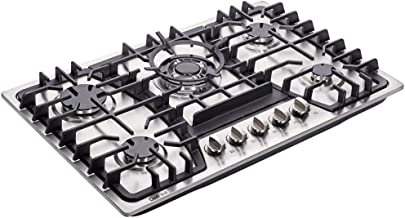 Deli-kit 30 inch Gas Cooktops Dual Fuel Sealed 5 Burners Gas Cooktop Drop-In Stainless..