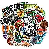 HONGC Pegatinas Impermeable monopatín Guitarra Libro Motocicleta Equipaje Graffiti Pegatina niña Chico niños Juguete 50 Uds