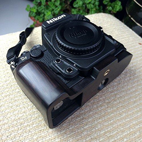 手工製 黑檀木 (紫光檀) ハンドグリップ グリップブラケット HAND GRIP FOR ニコン Nikon DF