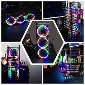 GeeekPi-New-Raspberry-Pi-Cluster-Case-Raspberry-Pi-Rack-Case-Stackable-Case-with-Cooling-Fan-120mm-RGB-LED-5V-Fan-for-Raspberry-Pi-4B3B3B2BB-and-Jetson-Nano-12-Layers