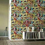Bande Dessinée Marvel Papier Peint en Multicolore