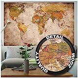 GREAT ART Affiche Vue Usage - Décoration Murale Carte géographie Mondiale...