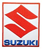 Suzuki Tag Motorcycle Cars ATV Bikes Motors Logo Jackets Embroidered Iron or Sew on Patch Size : 3.25 X 2.75 Inches
