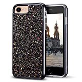 iPhone 7 Glitter Case, iPhone 8 Case, MIRACASE Bling Sparkle Dual Layer Hard PC Cover Soft TPU Inner Shockproof Glitter Case for iPhone 7/8 / 6 /6S (4.7'), Black