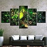 Haojie 5 Piezas-Magic Mural, impresión del Arte de la Pintura de la Lona, Familiar Sala de Estar Dormitorio Decoración Pintura, Cinco Partes,B,L