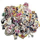 TTBH Sailor Moon Maleta Pegatina Dibujos Animados Lindo Agua Hielo Luna Trolley Caso Ordenador Pegatinas para niños niña Gift75Pcs