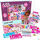 L.O.L. Surprise! Stylin' Studio by Horizon Group USA,Decorate LOL Surprise Paper Dolls With 250+ Accessories,Includes DIY Activity Book, Scratch Art,Sticker Sheet,Coloring Pages,Markers,Crayons & More (Toy)
