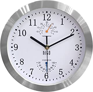 hito Modern Silent Wall Clock Non Ticking 10 inch Excellent Accurate Sweep Movement..