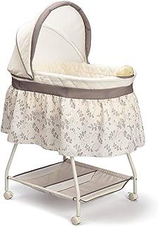 Delta Children Deluxe Sweet Beginnings Bedside Bassinet – Portable Crib with Lights..