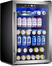 Antarctic Star Beverage Refrigerator Cooler-120 Can Mini Fridge Clear Front Glass Door..