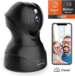 Security Camera 1080P WiFi Dog Pet Camera – KAMTRON Wireless Indoor Pan/Tilt/Zoom..